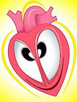 Illustration of heart with eye Stock Photo - Royalty-Freenull, Code: 400-04008693