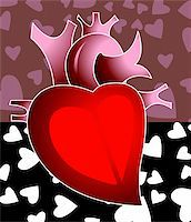 Illustration of heart  In love symbols Stock Photo - Royalty-Freenull, Code: 400-04008698