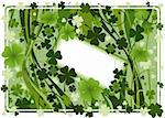 design for St. Patrick's Day with four and three leaf clovers Stock Photo - Royalty-Free, Artist: dip, Code: 400-04008847