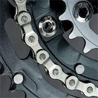 Mountain bike three chainring crankset with  chain Stock Photo - Royalty-Freenull, Code: 400-04011052