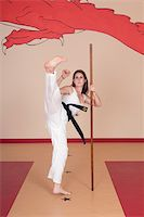 Second Degree Black Belt Woman Stock Photo - Royalty-Freenull, Code: 400-04014026