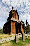A stavechurch - stavkirke - in Norway located at Torpo built in the 13th century. Stock Photo - Royalty-Free, Artist: Leaf, Code: 400-04015136