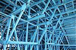 blue scaffold Stock Photo - Royalty-Free, Artist: auris, Code: 400-04016120