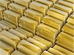 3d gold bars steps on white background