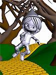 3D Render of an Toon Tinman Stock Photo - Royalty-Free, Artist: Digitalstudio, Code: 400-04024285