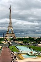 Storm clouds on the Eiffel Tower, Paris (France) Stock Photo - Royalty-Freenull, Code: 400-04027716