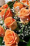 nice orange roses from the wedding table Stock Photo - Royalty-Free, Artist: jonnysek, Code: 400-04032955