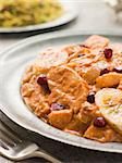 Chicken Kashmiri on a Pewter Plate with Pilau Rice Stock Photo - Royalty-Free, Artist: MonkeyBusinessImages, Code: 400-04034105