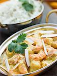 Tiger Prawn Korma Restaurant Style with Basmati Rice Stock Photo - Royalty-Free, Artist: MonkeyBusinessImages, Code: 400-04034128