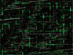 Green Abstract Programming Code Background Pattern With Grid