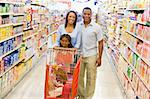 Family shopping for groceries in supermarket Stock Photo - Royalty-Free, Artist: MonkeyBusinessImages, Code: 400-04035988