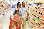 Family shopping for groceries in supermarket Stock Photo - Royalty-Free, Artist: MonkeyBusinessImages, Code: 400-04035990