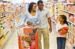 Family shopping for groceries in supermarket Stock Photo - Royalty-Free, Artist: MonkeyBusinessImages, Code: 400-04035991