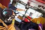 Firefighters travelling to an emergency Stock Photo - Royalty-Free, Artist: MonkeyBusinessImages, Code: 400-04036437