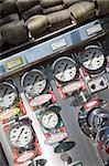 Gauges and dials on a fire engine Stock Photo - Royalty-Free, Artist: MonkeyBusinessImages, Code: 400-04036466