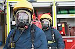 Firefighters in protective workwear Stock Photo - Royalty-Free, Artist: MonkeyBusinessImages, Code: 400-04036612
