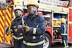 Firefighters in protective workwear Stock Photo - Royalty-Free, Artist: MonkeyBusinessImages, Code: 400-04036613