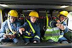 Firefighters on their way to an emergency scene Stock Photo - Royalty-Free, Artist: MonkeyBusinessImages, Code: 400-04036614