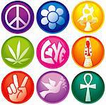 Nine 60s Icon Buttons Stock Photo - Royalty-Free, Artist: adroach, Code: 400-04037482