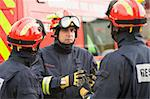 A firefighter giving instructions to his team Stock Photo - Royalty-Free, Artist: MonkeyBusinessImages, Code: 400-04037758