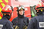 A firefighter giving instructions to her team Stock Photo - Royalty-Free, Artist: MonkeyBusinessImages, Code: 400-04037760