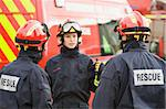 A firefighter giving instructions to her team Stock Photo - Royalty-Free, Artist: MonkeyBusinessImages, Code: 400-04037761