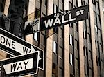 A Wall Street sign in Manhattan New York. Stock Photo - Royalty-Free, Artist: AntonPrado, Code: 400-04038941