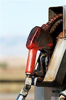 rural gas station - gas pump close up in rural area - dirty grungy greasy with copyspace Stock Photo - Royalty-Freenull, Code: 400-04042446
