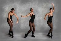 Beautiful Modern Dancer in Various Poses on Mottled Studio Background Stock Photo - Royalty-Freenull, Code: 400-04042479