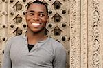 Happy Smiling African American Young Man Outdoors Stock Photo - Royalty-Free, Artist: tobkatina, Code: 400-04042569