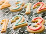 Number Shortbread Biscuits with Icing Stock Photo - Royalty-Free, Artist: MonkeyBusinessImages, Code: 400-04043279