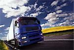 truck driving at dusk/motion blur Stock Photo - Royalty-Free, Artist: mikdam, Code: 400-04048834