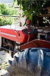 Tractor on European Country Farm Stock Photo - Royalty-Free, Artist: surpasspro, Code: 400-04050589