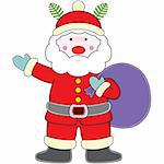 Santa claus, christmas elements for design. Stock Photo - Royalty-Free, Artist: mylefthand, Code: 400-04051262