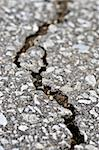 Crack in old asphalt pavement close up Stock Photo - Royalty-Free, Artist: Elenathewise, Code: 400-04054891