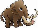  A vector illustration of a cute friendly woolly mammoth  Stock Photo - Royalty-Free, Artist: Krisdog, Code: 400-04057517