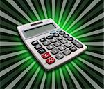 Office calculator with perspective view on green flower background Stock Photo - Royalty-Free, Artist: Rjohnson71, Code: 400-04059330