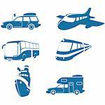 Transport & Travel icons Stock Photo - Royalty-Free, Artist: lazarev, Code: 400-04061056