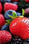 Background of assorted fresh berries close up Stock Photo - Royalty-Free, Artist: Elenathewise, Code: 400-04061288