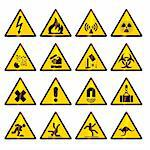 Danger, warning signs - vector format Stock Photo - Royalty-Free, Artist: lajo_2, Code: 400-04061524