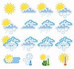 A colorful collection of a weather icons