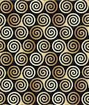Seamless triple celtic spiral pattern in trance colors. Triple symbolize three powers of maiden, mother and crone. Stock Photo - Royalty-Free, Artist: sahua, Code: 400-04063447