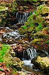 Creek with small waterfalls in japanese zen garden Stock Photo - Royalty-Free, Artist: Elenathewise, Code: 400-04071349