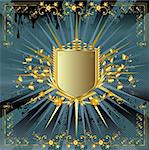 golden shield design Stock Photo - Royalty-Free, Artist: dip, Code: 400-04071663