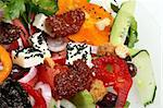 greek salad with tomato, cheese and olives Stock Photo - Royalty-Free, Artist: Netfalls, Code: 400-04072220