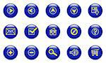 Illustration of the glassy blue web icons on white Stock Photo - Royalty-Free, Artist: zig8, Code: 400-04072391
