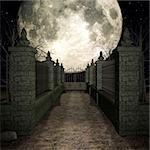 3D Render of an Mystic Cemetery Stock Photo - Royalty-Free, Artist: Digitalstudio, Code: 400-04073029