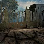 3D Render of an Mystic Cemetery Stock Photo - Royalty-Free, Artist: Digitalstudio, Code: 400-04073030