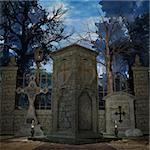 3D Render of an Mystic Cemetery Stock Photo - Royalty-Free, Artist: Digitalstudio, Code: 400-04073031