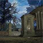 3D Render of an Mystic Cemetery Stock Photo - Royalty-Free, Artist: Digitalstudio, Code: 400-04073033